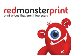 Red Monster Print